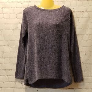 Simply Vera Wang Long Sleeve crewneck top XS blue